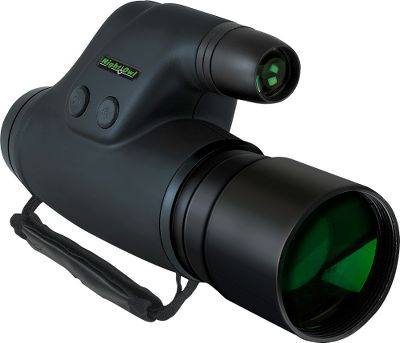 Hunting Big-light gathering lens in a sleek style that can be easily held in one hand. Image intensifier tube provides 500X ambient light amplification. Powerful infrared field of illumination is 35-ft. diameter at 100 feet. Field of view is up to 39 feet at a distance of 100 feet. 5X magnification. Requires one CR-123/3-volt lithium battery (not included). Generation 1 Nightvision. Imported. Dimensions: 7-1/2L x 2.23W x 4H. Weight: 16-oz. Due to popular demand from our varmint-hunting customers, we have found some of the best nightvision riflescopes available. Cabelas does not condone the use of these products for illegally taking big-game animals after legal shooting hours. Check local game laws for legality in your area. Type: Night Vision Riflescopes. - $199.99