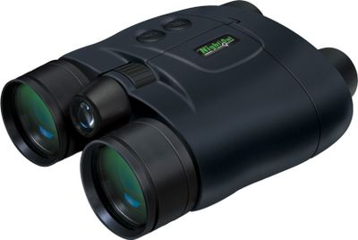 Hunting One of the most advanced and highly regarded Generation 1 nightvision binoculars on the market. Central-focusing wheel provides quick, simultaneous focusing of both objective lenses. Proprietary inter-ocular hinge ensures both optical channels are precisely centered on each eye. Two high-quality Generation 1 intensifier tubes enhance ambient light for clear nightvision. Built-in infrared illuminator improves target recognition in the darkest environments. Premium glass lenses for crystal-clear performance. Rubberized finish is shock-resistant and increases grip in any environment. Impact-resistant thermoplastic lens housings withstand rugged use in the field. Expected battery life of up to 80 hours depending on usage. Powered by one 3-volt CR-123 battery (not included). Color: Clear. - $549.99