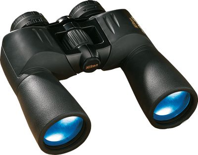Hunting Nikon has a complete line of optics Nikon Action Extreme 10x50 Binoculars feature center-focus, porro-prism construction that is compact and lightweight. Exclusive Eco Glass lightweight lenses and prisms. The all-metal chassis is crafted with lens fittings in a tough, lightweight polycarbonate shell. Twist-out eyecups and long eye relief. Waterproof, fogproof and shockproof construction. Type: Full-Size. - $179.99