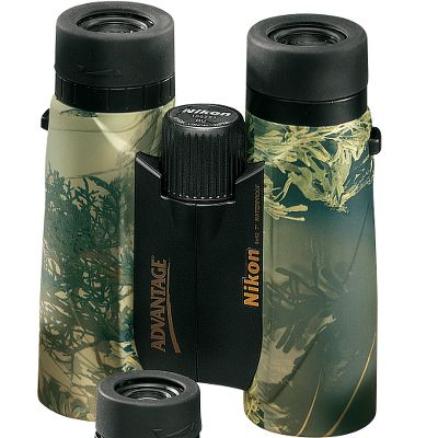 Hunting Nikon has a complete line of optics Built for the serious hunter who is not afraid to pursue game when weather turns foul or the terrain rugged, this big brother of Nikons popular Trailblazer compact binoculars is born to hunt. Thats what ATB (all-terrain binoculars) are all about. The ultraslim and durable rubber-armored body is easy to grip in wet conditions and defends the lead- and arsenic-free Eco-Glass inside from the inevitable hard knocks a hard hunt brings. With nearly 20mm of eye relief and turn-and-slide rubber eyecups, these Nikon Trailblazer ATB 10x42 Binoculars can be adjusted for comfortable viewing by anyone. Waterproof, fogproof and impervious to rain, snow or sleet, this is one tough optical tool. Generous coatings of anti-reflective compounds on the lenses aid in the delivery of crisp and clear images as you scout for that trophy you seek. Youll find the Trailblazer ATB light enough to take on long treks, but capable of producing images with more than sufficient clarity and brightness to be your stand-alone binoculars. Color/Camo Pattern: Black. Binocular Color: Black. Weight (oz.): 22.4. Type: Full-Size. Power: 10x42. Height (in.): 5.9. FOV @ 1,000 yds. (ft.): 293. Magnification: 10x. Prism Type: Roof. Power 10 X 42. - $149.99