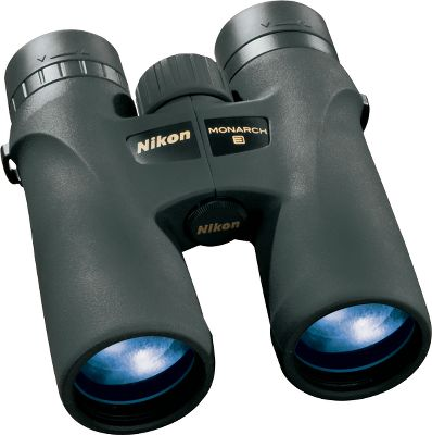 Hunting Nikon has a complete line of optics Boasting premium extra-low dispersion (ED) glass and dielectric, high-reflective multilayer prism coating, the Nikon MONARCH 7 8x30 Binoculars delivers bright colors, an enhanced field of view and drastically improved low-light performance. Phase-correction-coated roof prisms for high resolution. Lenses are nitrogen-purged and O-ring sealed for waterproof, fogproof reliability. Long eye relief and multiclick, turn-and-slide rubber eyecups for eyeglass wears. Ergonomic, compact ATB body with durable, rubber-armored coating for a secure, nonslip grip. - $379.99