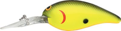 Fishing A cant-miss bait for consistent, reliable action whenever fish are sitting deep. On 10-lb.-test line it runs in the 10-12 ft. range with a medium/wide action. Per each.Size: 2-1/2, 3/8 oz.Colors: (009)Chartreuse/Black, (033)Magic, (139)Black Splatter, (149)Baby Bass, (153)Bumble Bee, (181)Midnight Sun, (186)Harbor O, (214)Copper Back, (221)Purple Essence, (225)Apocalypse, (253)Red Ear, (256)Glow Perch, (275)Slick, (333)Money, (347)Apparition, (360)Psycho Shad. - $3.88