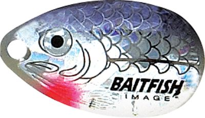 Fishing This innovative bait triggers strikes from walleyes suspended along the bottom. It features Eagle Claw Lazer Sharp #4 double hooks and a 60 Northland Biionic Leader. The holographic image of baitfish on the blades make this walleye spinner into a real attention grabber in less-than-clear water. Per 6. Sizes: 3, 4. Colors: (001)Firetiger, (002)Gold Shiner, (003)Silver Shiner, (004)Perch, (005)Rainbow Chub, (006)Sunfish, (007)Sunrise, (008)Yellow Perch. Color: Rainbow. Type: Bait Rigs. - $13.99