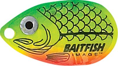Fishing Designed by the pros who make their living on the Professional Walleye Trail , this innovative bait triggers strikes from walleyes suspended along the bottom. It features Lip-Stick VMC cone-cut hooks, XT Trilene leader and a buoyant cylinder body float that elevates the rig off the bottom. Baitfish-Image attractor blades give them extra flash and realism. Per 3.Colors: (001)Firetiger, (002)Gold Shiner, (003)Silver Shiner, (004)Gold Perch, (005)Rainbow Chub, (006)Sunfish, (007)Sunrise, (008)Yellow Perch. - $4.88