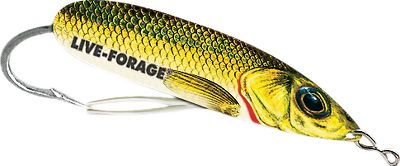 Fishing Its improved, Y-shaped weedguard lets you effortlessly work heavy cover for big pike and bass. Per each. Sizes: 1/2 oz., 3/4 oz. Colors: (012)Golden Shiner, (016)Bullfrog, (023)Perch, (028)Crappie, (038)Gizzard Shad. - $4.99