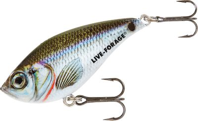 "Fishing A versatile lipless rattle bait that flashes, shimmers and vibrates. Perfect for vertical jigging, ice fishing or simple cast-and-retrieve prospecting over shallow flats, this lure features a shad minnow profile with a weighted rattle chamber that mimics the sound of a wounded bait. Baitfish-Image patterns for a lifelike look. Per each. Sizes: 1-1/2, 2, 2-1/2.Colors: (011)Silver Shiner, (012)Golden Shiner, (020)Glow Perch, (021)Rainbow Trout Glow, (023)Golden Perch, (032)Sexy Shad Glow. Type: Ice Tackle. Size 2 1/2"". Color Rainbow Trout Glo. - $5.24"