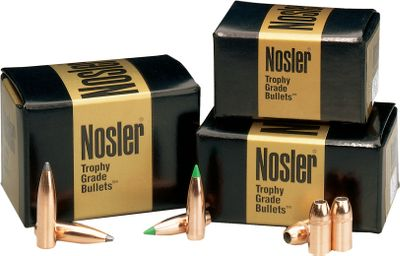 Nosler handgun bullets deliver accuracy and consistency. Each bullet is produced on fully automated machinery and Nosler polishes all Sporting Handgun bullets to a bright finish. The .45-caliber metal jacketed hollow point has exposed lead and knife-cut serrations in the jacket wall to initiate expansion. A well-defined cannelure holds jacket and core together and permits a tight crimp to eliminate bullet movement within the case. The .45-caliber Colt has a concentric, tapered jacket for maximum accuracy. A form-fitted, pure lead core for reliable expansion and maximum accuracy across a broad velocity range. Each style is .451 diameter. - $31.99