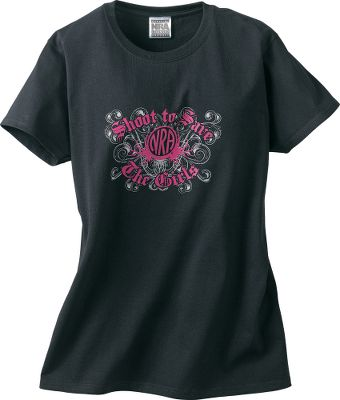 Show your support of breast cancer awareness along with your pride in the National Rifle Association with this Shoot to Save the Girls tee shirt, offered exclusively through Cabelas. Old English lettering complements a distressed Gothic screen print of vectors and swirls. The official NRA emblem is embellished with more vectors, and is centered in the middle of the print. A portion of each tee shirts proceeds is donated by the NRA towards breast cancer research. 100% preshrunk cotton. Imported. Size: Medium. Color: Pink. Gender: Female. Age Group: Adult. Material: Cotton. Type: Short-Sleeve Tee Shirts. - $8.88