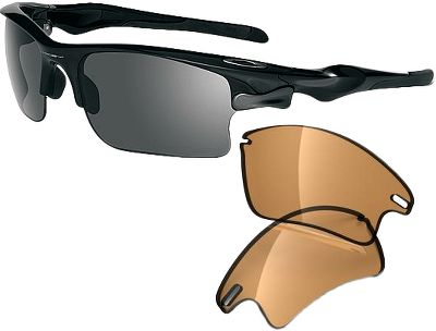 Hunting Featuring Switchlock interchangeable lens technology, the Oakley Fast Jacket XL Non-Polarized Sunglasses deliver adapt-and-conquer performance for a wide range of environments and outdoor sports. And Fast Jacket open-edge lens design wont obscure your view when looking downward. The Oakley cushioned lens suspension system eliminates vision-distorting lens stress for dependable interchangeable lens security and optimal clarity. High-strength, metal-injection-molded stainless steel Switchlock push-button mechanism for fast, easy lens changes. High Definition Optics with patented XYZ Optics technology offer clarity at every angle and vibrant, high-contrast images. Ultrapure Plutonite lens material filters out 100% of UVA, UVB, UVC and harmful blue light. Lightweight, stress-resistant O Matter frames maximize comfort with a three-point fit that eliminates pressure points. Unobtainium ear-stem sleeves provide increased grip when you perspire. Includes two interchangeable Oakley HDO lenses for high-contrast performance on bright, sunny days and increased acuity in low-light conditions. Lens-impact protection meets ANSI Z87.1 standards. Also includes two sizes of interchangeable nose pads, an Oakley Soft Vault case and the Oakley Nano-Clear Hydrophobic Mini-Pen. - $220.00