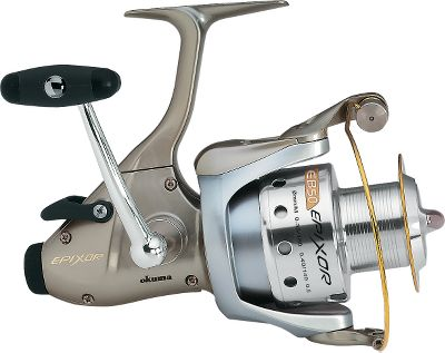 Fishing Baitfeeder reels contain 10 bearings (nine ball bearings and a one-way clutch bearing) for amazingly smooth retrieves, and they boast a baitfeeding design for more control when fishing live bait. In the baitfeeder mode, the spool releases line without the bail being open and keeps it under slight tension to keep control of the bait fish swimming around in the water. When the fish comes and takes the bait, the spool lets out line under the slightly heavier tension so it won't feel your resistance until you're ready. Engage the reel and set the hook. The Rotor Equalization system makes for a wobble-free retrieve, so you can fish all day long in comfort. It has a titanium-coated stainless steel spool rim for long casts and durability. Okuma Extra Drag System uses oversized stainless steel and felt washers to dissipate heat and put the brakes on trophy-sized fish. The Rotor Equalization system makes for a wobble-free retrieve, so you can fish all day long in comfort. Includes a FREE spare graphite spool. Color: Stainless. Type: Saltwater Spinning Reels. - $89.88
