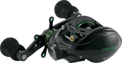 Fishing This sturdy and ergonomic reel delivers big-reel performance in a compact, low-profile package. Frame and sideplates are constructed of die-cast aluminum with corrosion-resistant coating. The A6061-T6 machined-aluminum anodized spool is driven by heavy-duty aluminum gears and shafts for lightweight strength in the harshest conditions, and is outfitted with precision Japanese ABEC-5 spool bearings. The multidisc carbonite drag system is microclick adjustable for precise settings with the star control wheel. At the heart of the reels drive system are eight ball bearings for ultrasmooth cranking and one quick-set anti-reverse roller bearing for solid, fish-jolting hooksets. An innovative, adjustable, seven-position Velocity Control System is a six-pin centrifugal braking system for precision spool control. Positioning the weights in toward the spool allows more freespool, while adjusting the pins out and away from the spool allows for more control. Alternate weights until you find your perfect balance for casting. An ergonomic handle allows cranking closer to your body. The strong zirconium line guide inserts stand up to braided lines. Backed by a three-year manufacturers warranty. Available in right- and left-handed models. Type: Casting Reels. - $199.99