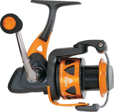 Fishing Innovative crossover design combines aluminum and graphite to create an ultralightweight hybrid spinning reel. Stout, one-piece aluminum reel stem and rotor arm. Precision Dual Force Drag system uses both surfaces of the spool to maximize high-end drag pressure. Multidisc, Japanese oiled-felt drag washers with Hydro Block watertight seal dissipate heat efficiently. Quick-set anti-reverse roller bearing ensures solid hooksets. Corrosion-resistant coating process penetrates and bonds to the metal for long term protection. Precision Elliptical gearing system with high-density gears. Hybrid spool sports a graphite arbor and aluminum lip. Solid aluminum bail wire. Computer-balanced rotor equalizing system. Trio55 features an oversized T-knob handle grip. Manufacturers one-year warranty. Type: Spinning Reels. - $79.99