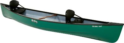 Kayak and Canoe Old Towns Guide series of durable, rigid canoes deliver versatile fun at an affordable price. Theyre stable enough for fishing and nature watching, with a size thats great for family outings. Unique cross-sections and stabilizing chines ensure a smooth ride and another level of rugged durability. The sharp entry makes paddling easier. Built of three-layer linear polyethylene technology for exceptional stiffness, low-weight and built-in flotation. Grab handles on decks. Ash carrying yoke. Black vinyl gunwales. Black blow-molded seats.Length: 14 7.Width: 38.Bow Height 19.Depth:13.Weight: 74 lbs.Maximum Load Range: 850-900 lbs.Color: Green. Type: Canoe. Green. - $699.99