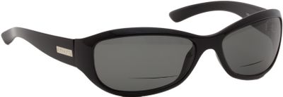 Ski The lightweight, high-gloss black frame of these sunglasses are rugged, stylish and a perfect fit for medium and large face sizes. CR39 polarized-lens technology offers 100% UVA/UVB-blocking protection and eliminates reflective glare. This results in sharp, crisp vision, increased depth perception and incredible color contrast. High-performance reading inserts boost magnification for detailed close-in vision. Lens colors: Amber Enhances visual acuity in overcast and low-light conditions. Blue Mirror over Grey Combats intense reflective glare; perfect for snow skiing or on-the-water activities. Green Mirror over Amber For general land-based activities, when reflective glare is not a major factor. Grey Perfect for everyday, all-day use. Size: M. Color: Black. - $99.99