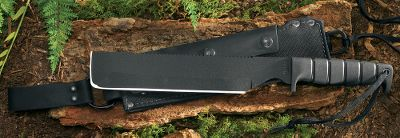 Camp and Hike A handy addition to any camp box or hunting pack, this machete will handle the toughest cutting, sawing or prying job with ease thanks to a blade thats a full 1/4 thick. The 10 blade is made of tough 1095 carbon steel that features a 6-1/4 double milled saw for superior cutting. The blades flat end is perfect for prying. Includes durable Cordura nylon and leather sheath with leather belt loop and tie-downs. Overall length: 15.Weight: 1 lb. 6.4 oz. Type: Machetes. - $54.88