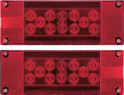 Motorsports Optronics LED Taillights consist of super-bright, bi-frequency light emitting diodes. The small bulbs send out intense light for increased visibility. With power use of one-tenth of a conventional light and over 100,000 hours (up to 11 years) of constant illumination, this is the future of lighting. All are 100% waterproof, with a sealed stop, tail- and turn light with side marker lights built-in. Sealed submersible technology. 6 Oval Light Kit includes grommet and three-way straight plug. Available: Right Replacement Light Left Replacement Light 6 Oval Light Kit with Grommet Type: Trailer Light Kit. - $19.99