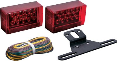 Motorsports These fully submersible, sealed LED lights make ideal replacements on your ShoreLandr trailer. Available: Shorelandr Kit Includes two universal-mount LED taillights with red side reflectors, license-plate bracket, 25-ft. wiring harness and corrosion-resistant mounting hardware. GloLight Traditional Set Includes two lights and mounting hardware. Lights include 25/28 diodes. (TLL190RK) GloLight 8 LED Low-Profile Kit Smooth illuminated outer band surrounds the central LED array. Includes two 28-LED taillights and mounting hardware. Drivers side includes a 6-LED license-plate light. Traditional Kit Fit under 80 trailers. Includes two LED taillights and mounting hardware. GloLight 12 LED Low-Profile Kit Includes two LED taillights and mounting hardware. Color: Red. - $69.99