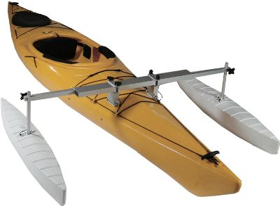Kayak and Canoe Provides you with all the safety and stability you need and converts your canoe or kayak into an instant fishing platform. Universal brackets fit canoes and kayaks. Includes polyethylene-molded hydrodynamic floats, float arms, universal receiver and kayak adapters/gunwale brackets. Kayak sold separately. Length: 42 . - $239.99