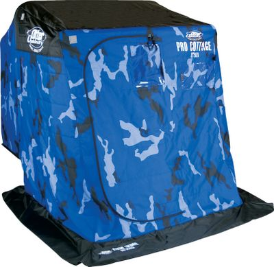 Fishing Did someone yell, Gimme Shelter? Then step into an Otter Pro Thermal Shelter. With the number one roto-molded sled in the world as a base, these shelters are made for the rigors of ice fishing. Otters XT900 Full Thermal Shells, the most durable shells on the market, are fully quilted, super warm, and feature water-resistant high-loft insulation, a tough 600-denier shell and 300-denier lining. These shells cover the strongest aluminum frames in the industry to be sure they stand against the biting wind. And Otters exclusive Cross-Link Seating System with multidirectional swivel bucket seats assures you and your fishing buddies will always have the best seat in the house. All models include a molded-in hitch.Available: One-Man Cottage. Set-up dimensions: 54L x 77D x 63H. Weight: 80 lbs. Two-Man Cabin. Set-up dimensions: 66L x 84D x 70.5H. Weight: 110 lbs. Three-Man Lodge. Set-up dimensions: 74L x 98D x 77H. Weight: 125 lbs. - $849.99