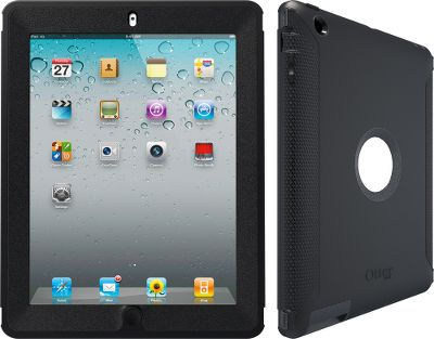 Keep your iPad 3 safe and sound with this multilayered case. The built-in screen protector, high-impact polycarbonate shell and durable silicone skin shield your investment from damaging drops, scratches and dents. Memory foam pads provide an extra layer of protection against drops and bumps. Easy access to all side buttons. Silicone plugs deliver access to headphone and charging ports. Shield stand fits on front and back of case, and supports viewing in both landscape and portrait modes.Dimensions (case only): 9.9L x 7.73W x 0.72D.Dimensions (case and shield stand): 10.26L x 8.08W x 1.14D.Color: Black. - $89.99