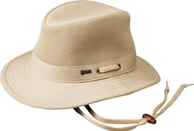 A packable hat that keeps you cool while providing protection from the sun. A 4 mesh crown allows air to circulate freely inside. 100% cotton 2-1/2 brim. UPF rating of 40 protection. Imported.Sizes: S-XL.Colors: Natural, Olive. - $39.99
