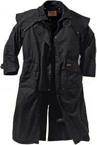 Entertainment The Mens Long Drover features a durable, waterproof and breathable 100% cotton oilskin shell. Lined with cotton twill and taffeta for easy on and off. Double-needle stitching and bar tacks at all stress points, snap-closed fronts with snap-closed storm flaps, detachable capes, adjustable cuffs, inside elbow patches and an internal security pocket. Delivers full-length protection from cold, wet weather. Deep, fantail back gusset for comfortable wear when riding a horse or an ATV. Flapped, top-entry cargo pockets. Drawstring waist. Leg straps. Imported. Sizes: S-3XL. Colors: Brown, Black. Size: SMALL. Color: Brown. Gender: Male. Age Group: Adult. Material: Taffeta. - $97.88