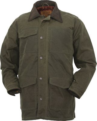 Outfitted for the rugged outdoors, the Miners Jacket boasts a 12-oz. waterproof oilskin shell. The insulated plaid flannel lining provides soft warmth. A snap-over storm flap covers the two-way zipper to seal out wind and rain. Snap-open side vents deliver cooling air. Eight outside pockets and one inner chest pocket provide generous amounts of storage. Action back and pleated sleeves offer ease of movement. Raise the nubuck collar or cinch the drawstring waist for extra wind protection. Stylish Western back yoke. Snap-adjustable nubuck-trimmed cuffs. Imported. Sizes: M-2XL. Colors: Tarnish, Sage. Size: Medium. Color: Green. Gender: Male. Age Group: Adult. Pattern: Plaid. Material: Flannel. Type: Jackets. - $109.88