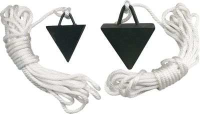 Fishing Hold your pontoon steady in the wind or moving water with these handy anchors. Choose from 5-lb. or 12-lb. models. Both are pyramid shaped and come with 25 ft. of 5/16 rope. Sizes: 5-lb., 12-lb. Type: Float Tube & Pontoon Accessories. - $49.99