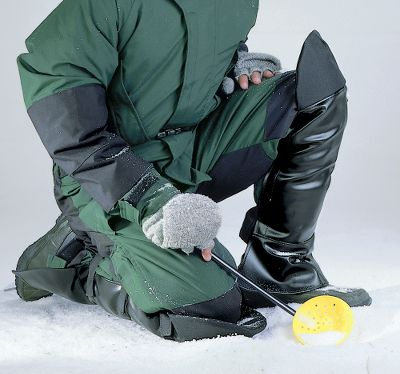Fishing Keep your legs dry and comfortable when you're ice fishing, snowmobiling or late-season hunting. Waterproof chaps keep you covered from ankle to knee, but provide the flexibility you need for any activity. Cordura nylon knee pads keep you dry and keep your knees from taking a pounding on the ice. Elastic straps with Velcro ensure a snug fit even when wearing bulky clothing. One-size fits most. Free Tube-U-Lure included. Color: Black. Size: ICE CHAPS. Color: Black. Material: Nylon. - $14.99