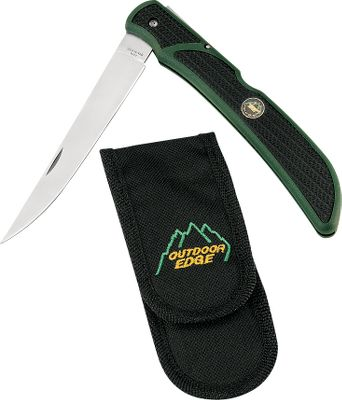 Fishing A full-size 5 filleting knife in a compact easy-to-carry folder. Flexible, razor-sharp 440A stainless steel blade delivers superior edge retention. The Zytel handle has Kraton inserts and exclusive Trimond texture pattern for a nonslip grip, even when wet. Use the clothing clip to carry the knife inside your pocket. Includes a Cordura nylon belt sheath. Blade length: 5 . Overall length: 11-3/8 . Weight: 3.1 oz. Color: Stainless. Type: Fillet Knives & Combos. - $17.99