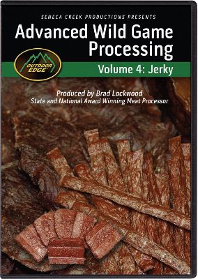 Hunting Expert processor Brad Lockwood takes you step-by-step through his advanced techniques for making fresh jerky. He covers many forms of jerky including nugget, smoked, restructured, whole-muscle and African biltong. Learn how to debone a deer and select the best cuts for jerky. DVD. 120 min. - $15.99