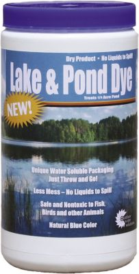Camp and Hike A private pond is a wonderful way to enjoy nature, observe wildlife, watch birds and even fish. Ponds age over time, resulting in a variety of changes that could diminish your enjoyment. These products have been created to help you manage your aquatic habitat and keep it pleasing to the eye and the creatures that call it home. Available: Electric Aerator Aeration is the best way to keep excess bottom material, algae and pond stratification from negatively altering your ponds habitat. It keeps your pond clean and also prevents winter freezing. This aerators high-output compressor produces consistent air output to keep air and water mixing. It produces 1.5 cfm at a depth of 8 ft., which is ideal for ponds up to 3/4-acre in size. A 7 ceramic diffuser produces the optimal bubble size for efficient aeration. An included Airstone housing bucket protects the diffuser from muck and mud. You also receive 50 ft. of weighted air line that keeps it out of the way for swimming and fishing. 50 ft. of polytubing allows you to install the unit away from the ponds edge. Two-year warranty. Maximum depth for this aerator is 8 ft. Imported. Lake and Pond Dye The dye filters sunlight, preventing it from reaching the bottom so algae formation is hindered. It also adds an attractive blue color to the water while keeping it nontoxic and safe for fish, birds and wildlife. Concentrated dry product in a water-soluble bag. 10H x 6 dia. Made in USA. Lake and Pond Bacteria A blend of beneficial aerobic bacteria that helps break down organic matter on the bottom of your pond. It diminishes nutrient overload, reduces odor and delivers a clean, clear result thats great for fishing, swimming and other water activities. Comes concentrate Color: Clear. - $24.99