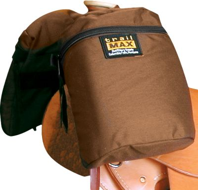 Hunting This water-resistant saddle horn bag is designed with 1,000-denier Cordura nylon to handle wear and tear. Foam inserts provide insulation and protection for fragile items. Measures: 11 H x 8-1/2 W x 4 D. Colors: Blaze Orange, Brown. Color: Blaze Orange. Gender: Male. Age Group: Adult. Type: Saddle Bags. - $17.88