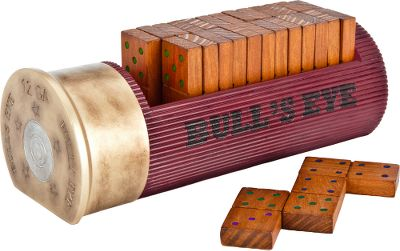 Bring some outdoor attitude to your next domino game. The unique organizer is hand-painted and crafted of highly durable resin. Includes one set of wooden, double-six dominos (28 pieces). 13.5L x 4.5W x 2H. - $36.99