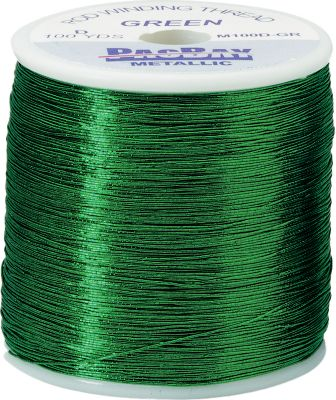 Fishing You can rest assured that these Pacific Bay threads are made to exacting standards of consistency, giving you the high performance you require. Continuous monofilament core-wrapped thread with a metallic, dual-sided film. Per 100-yd. spool. Size: A. Colors: Green, Royal Blue, Red, Gold, Old Gold, Chrome. - $2.44