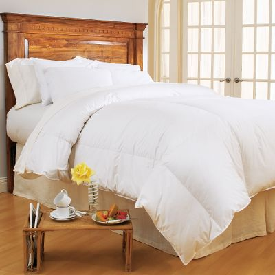 "Entertainment Treat yourself to a great night's sleep every night in the luxurious warmth of Pacific Coast's goose down nature's most effective insulator. This is the ideal comforter for every season with warm, 550-fill-power down and 300-thread-count, 100% cotton Barrier Weave fabric. Goose down delivers breathable warmth without excess weight, resulting in comforters lighter than blankets, yet thicker than quilts. The 4-Star features true baffle-box construction with a Comfort Lock border system designed to prevent the down from shifting to the sides and bottom. Allergy-free white goose down is treated with Pacific Coast's-exclusive Hyperclean process to remove dust, dirt and allergens, and is used in all its comforters and pillows. Professional laundering recommended. Made in USA.Available:Twin (64"" x 86"") Full/Queen (88"" x 90"")King (104"" x 89"") - $229.99"