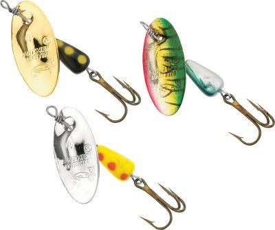 Fishing This world-class value pack contains Panther Martins three best-selling, No. 4 spinners: the Silver, Gold and Holographic Tiger Green. With flashing blades and fish-attracting vibrations, these spinners are known to provoke big strikes. Size: 1/8 oz. Color: Silver. - $6.88
