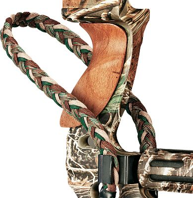"Hunting The Paradox ProSling Elite features a double-wide green camo braided sling for enhanced shooting comfort. Its metal clip-style bracket holds the strap firmly in place and is easy to adjust. Easy to mount with the included rubber washer, star lock washer and 5/16""-24 cap screw. Color: Green camo. - $14.88"