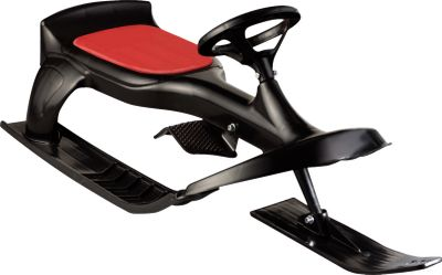 Camp and Hike Steering wheel control for major downhill fun. Made of high-impact plastic. Ages 8 and up. Weight: 12 lbs. Dimensions: 45L x 18W x 20H. Type: Sleds, Snowboards & Skis. - $89.99