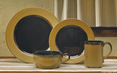 Handsome hues as rich as molasses convey a warm, prideful sense of home. Heavy-duty stoneware is dishwasher and microwave safe. Reactive-glaze finish creates natural variations in each piece. Imported.Includes four each of the following: Soup/Cereal Bowls 2-1/2H x 5-1/2 dia. Salad Plates 8-1/2 dia. Dinner Plates 10-1/2 dia. Mugs 4H x 3-1/2 dia. - $149.99