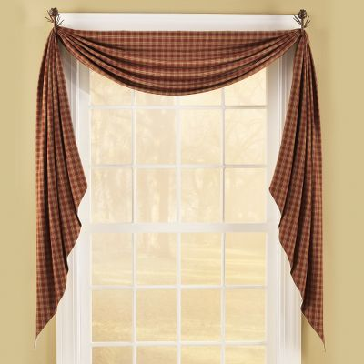 Dressing up windows adds just the right accent to complete a rooms atmosphere and dcor, and doing so is easy and affordable with these Fishtail Swags. They are fully lined and can be paired with curtain hooks to create a custom look. All are crafted of easy-to-care-for 100% cotton. Machine wash cool, line dry. Imported. 145L x 25W. Colors/pattern: Lemon Pepper. Color: Lemon Pepper. Gender: Male. Age Group: Adult. - $17.99