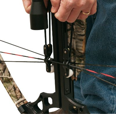 Hunting For use with all makes of crossbows. Roller guide for easy, smooth cocking effort. Non marking barrel rollers reduce friction. Extra-long rope accommodates all lengths of crossbows and T-handles for a solid grip and pull. Reduces felt draw weight by about half. Color: Black. Type: Rope Cockers. - $35.99