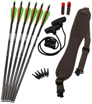 Hunting Outfit your crossbow with the bolts and accessories you need at an affordable price. Package includes six Parker Crossbow Carbon Bolts, six 100-grain matched-weight field points, Red Hot string wax, Red Hot barrel lube kit, standard crossbow rope cocker and custom Parker sling with swivels. Type: Accessory Packages. - $99.88