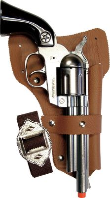 Modeled after classic Western firearms, the Lawman gives youngsters the look and feel of the real thing. Die-cast construction and the included holster will give your little cowboy a taste of the Old West in your own backyard. The 14 pistol sports black grips with a nickel finish and fires 12-shot ring caps (not included). Recommended for ages 5 and up. Color: Nickel. - $24.99