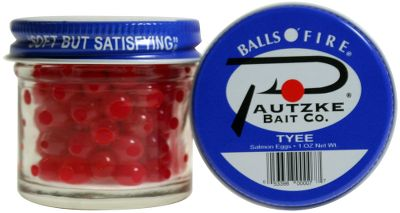 Fishing Pautzkes Balls O Fire select king and chum salmon eggs have the texture, firmness and durability needed for repeated drifting or casting. Compare them to other salmon eggs that tear and deteriorate easily. You wont find a more effective egg. Per jar. Available: Green Label Can be used in any situation. Fish in moving water or reservoirs. Premium Ideal for late-season king salmon. Uniform in size, tightly graded, clean and large. Tyee Great for small streams, brooks, spring creeks and clear and low water. Designed to be cast into tight spaces, behind boulders, in pockets and under overhanging banks. Gold Label Best when used in clear water where the gold-glitter reflection pulls in fish. Orange Deluxe Multipurpose eggs, these eggs are comparable to brown trout, rainbow trout and steelhead eggs. Excellent in clear and low water or where fishing pressure is high. Yellow Jackets Resembles natural spawn. Similar to brown trout, rainbow trout and steelhead eggs. Ideal for clear and low water, and most effective on finicky trout and steelhead. Silver Label Ideal for clear water, where the silver-glitter reflection drives fish to feed even on days when they arent aggressive. Natural Deluxe Mimics natural spawn color of brown trout, rainbow trout and steelhead eggs. Pink Shrimp Largest egg in Pautzkes line for easy visibility, plus combines two things salmon and steelhead love: the color pink and the aroma of shrimp. Chartreuse/Garlic Highly visible chartreuse color and powerful garlic Color: Chartreuse. Type: Salmon Eggs. - $3.69