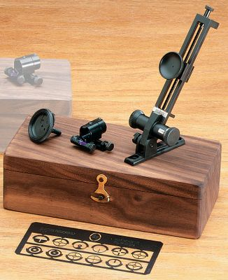 Combine the rear Soule Mid-Range or Long-Range peep with a Spirit level globe-style front sight for a reduced cant. Kit also includes replaceable reticles, adjustable diopter eye piece, and replacement levels in neutral, yellow, green, light green, red and light blue colors. Comes in a handsome hardwood box. Available: Long-range sight set, Mid-range sight set. Type: Sights. Type: Sights. Long Range Soule Set. - $399.88