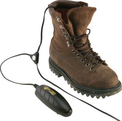 Hunting Developed by a pioneer in footwear-drying technology, this lightweight and portable unit works to dry any footwear overnight. If moisture gets into your boots or waders during a hard day of hunting, start the next day with fresh, dry feet. Just insert the power cells into damp footwear, plug them into any standard 120-volt household electrical outlet, and let footwear dry while you rest. It also eliminates odors caused by perspiration, bacteria and mildew, and extends the service life of your footwear compared to just letting boots, shoes and waders air dry. - $9.99