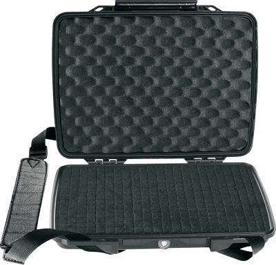 The legendary protection of Pelican gun and camera cases is now available for your high-tech personal electronics. Keep your iPad or netbook protected from the elements and damage in this watertight, dustproof and crushproof hard case. Constructed of high-strength ABS material. Built-in automatic purge valve keeps water and dust out while balancing interior and exterior air pressure. Dimensions: 12.38L x 9.75W x 2.13D. - $64.99