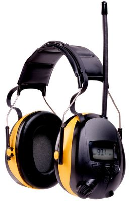 Entertainment Perfect for keeping your ears safe and protected during noisy projects or a long day at the range, the redesigned WorkTunes Hearing Protector Earmuffs are lightweight, and adjustable, sport comfortable foam-filled earcups and have a noise reduction rating of 24db. The built-in MP3 player and AM/FMstereo with antenna can easily be programmed and controlled using innovative Voice Assist technology without ever having to remove the headset. Preset up to 50 of your favorite AM/FM stations while also selecting from the three Bass-Boost options for a customized listening experience. Radio has separate volume, on/off switch, digital tuning and AM/FM station-selector controls. MP3 player and iPod compatible. Padded stainless steel headband keeps wires concealed and out of the way. Volume control limit of 82db. Other convenient features include low two-point attachment for easier height adjustment, redesigned buttons and knobs, an easy-to-use auto scan and recessed input jack. Runs for up to 250 hours on two AA batteries (not included). Color: Stainless steel. Gender: Male. Age Group: Adult. - $59.99
