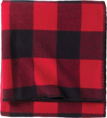Entertainment A rugged classic with a bold new look. The Pendleton Lumberman Washable Wool Blankets thick woolen texture makes a warm companion on cold nights, perfect in cabins, bunkhouses or kids rooms. The Old West-inspired buffalo-check pattern and distinctly Western look instantly spruces up drab rooms. Traditional whipstitch binding. 100% pure virgin wool. Machine washable. Made in USA. Available: Twin 66 x 90 Queen 90 x 90 King 108 x 90 Colors: Red/Black, Blackwatch, Multi Plaid, Grey Plaid. Size: TWIN. Color: Blackwatch. Type: Blankets. - $149.99